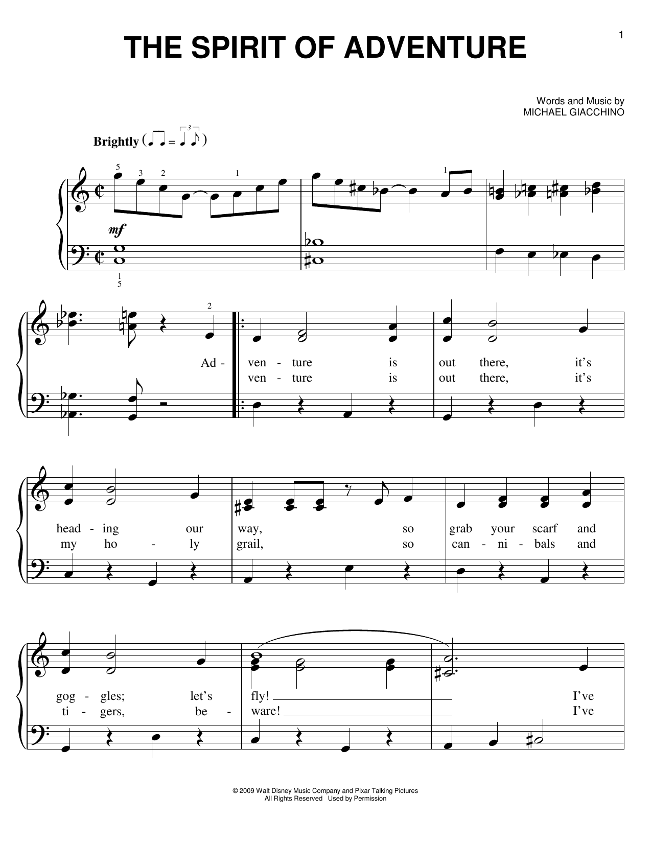 The Spirit Of Adventure Sheet Music