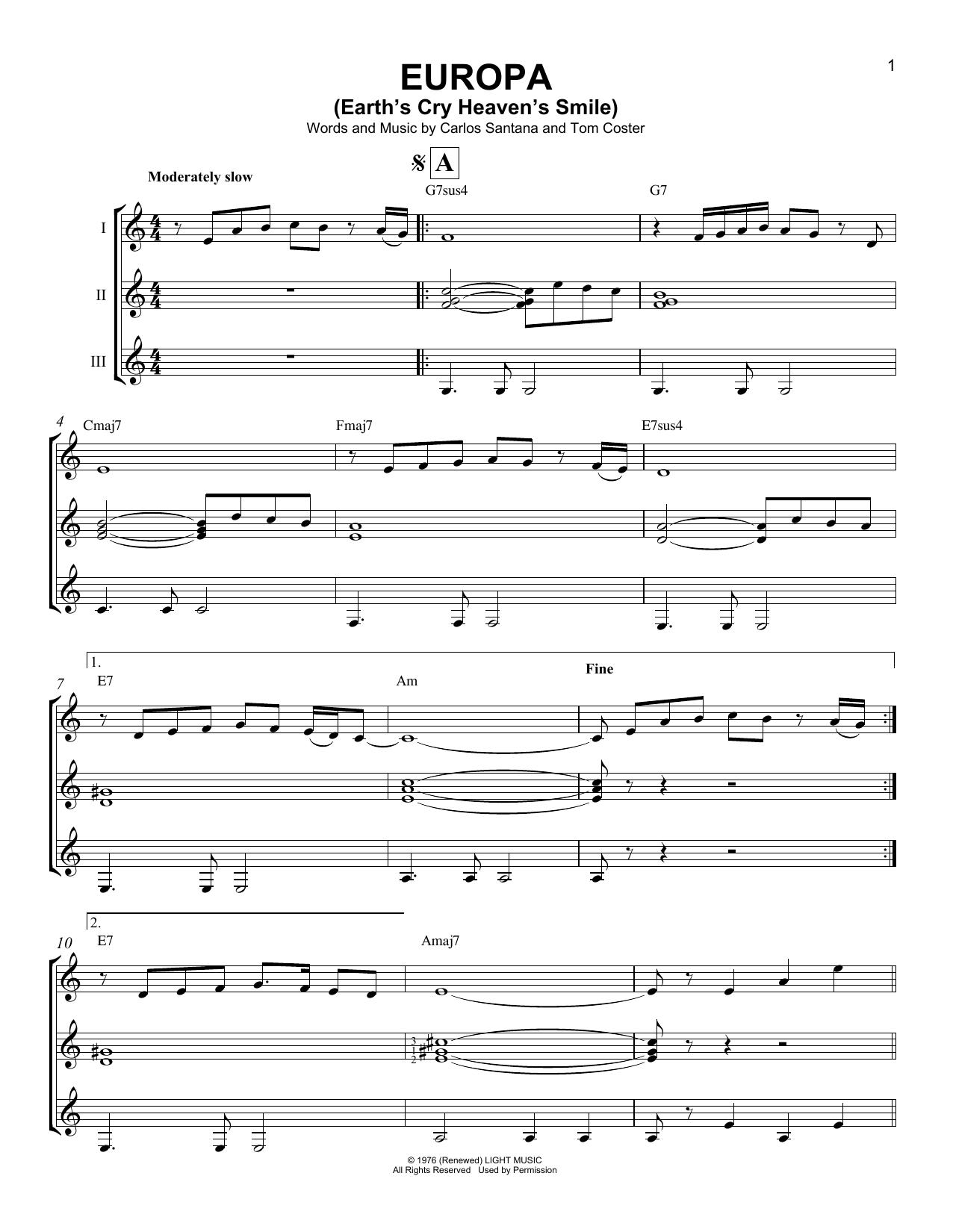 Europa (Guitar Ensemble)
