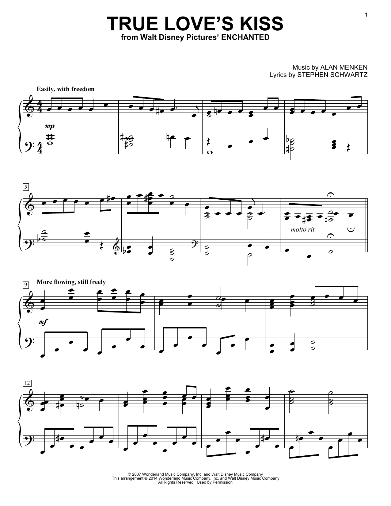 True Love's Kiss (from Enchanted) Sheet Music
