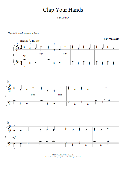 Clap Your Hands Sheet Music