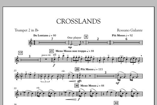 Crosslands - Bb Trumpet 2 (Concert Band)