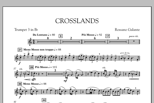 Crosslands - Bb Trumpet 3 (Concert Band)