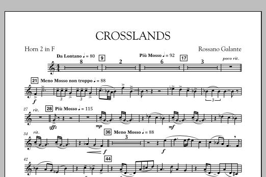 Crosslands - F Horn 2 (Concert Band)