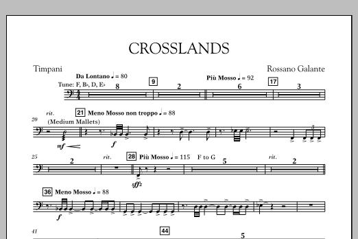 Crosslands - Timpani (Concert Band)