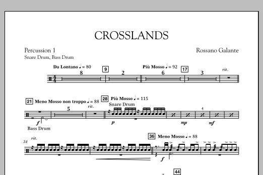 Crosslands - Percussion 1 (Concert Band)