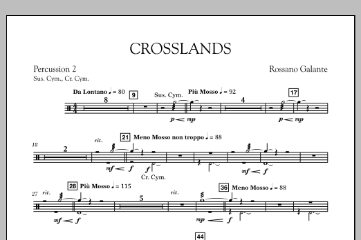 Crosslands - Percussion 2 (Concert Band)