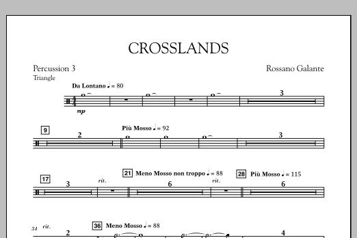 Crosslands - Percussion 3 (Concert Band)