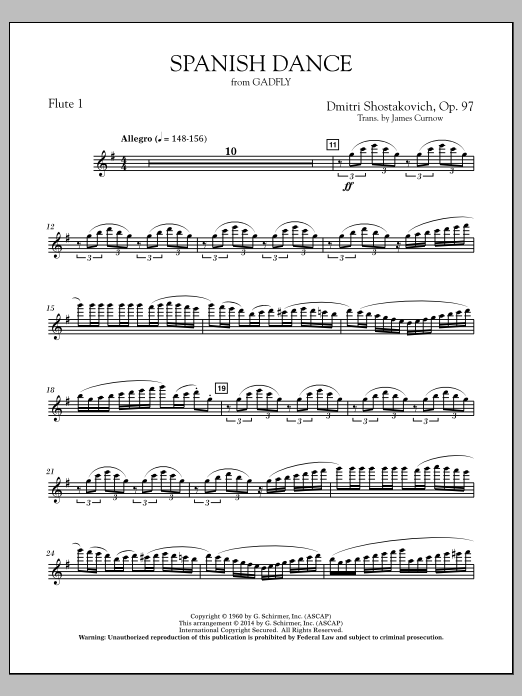 Spanish Dance (from The Gadfly) - Flute 1 (Concert Band)