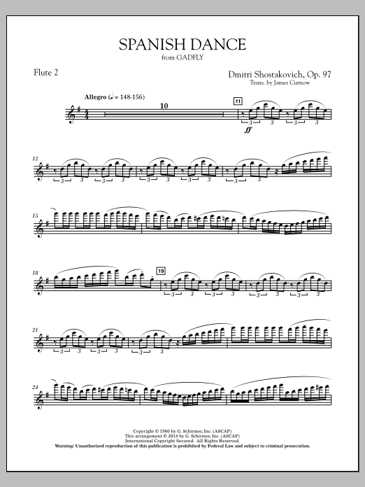 Spanish Dance (from The Gadfly) - Flute 2 (Concert Band)