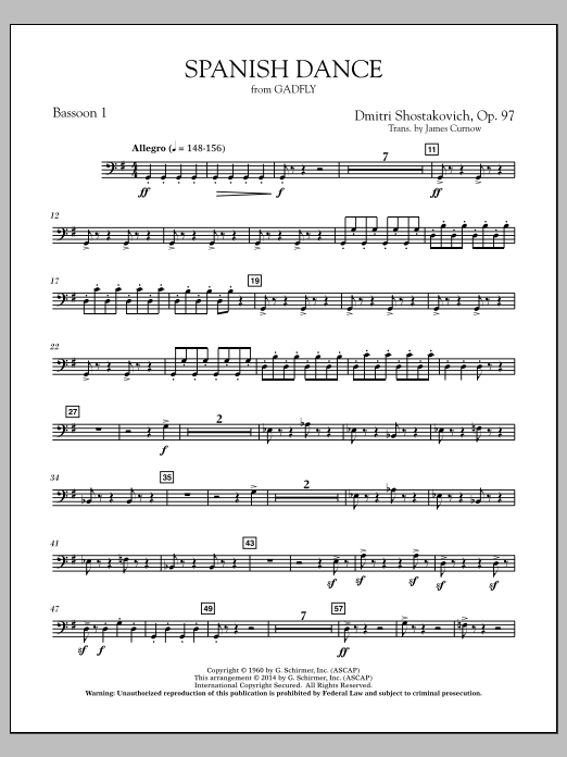 Spanish Dance (from The Gadfly) - Bassoon 1 (Concert Band)