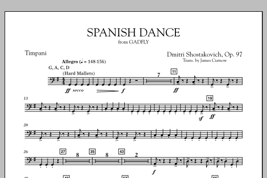 Spanish Dance (from The Gadfly) - Timpani (Concert Band)