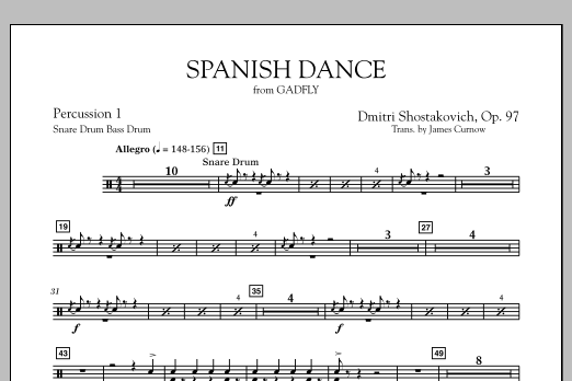 Spanish Dance (from The Gadfly) - Percussion 1 (Concert Band)