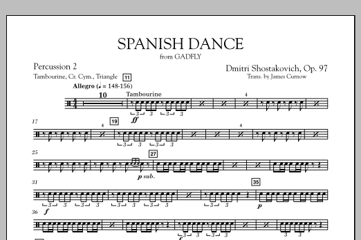 Spanish Dance (from The Gadfly) - Percussion 2 (Concert Band)