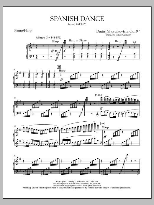 Spanish Dance (from The Gadfly) - Piano/Harp (Concert Band)
