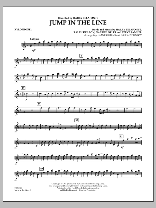 Jump in the Line - Xylophone 1 (Concert Band)