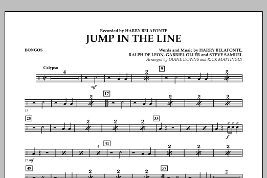 Jump in the Line - Bongos (Concert Band)