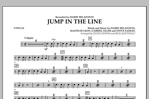 Jump in the Line - Congas (Concert Band)