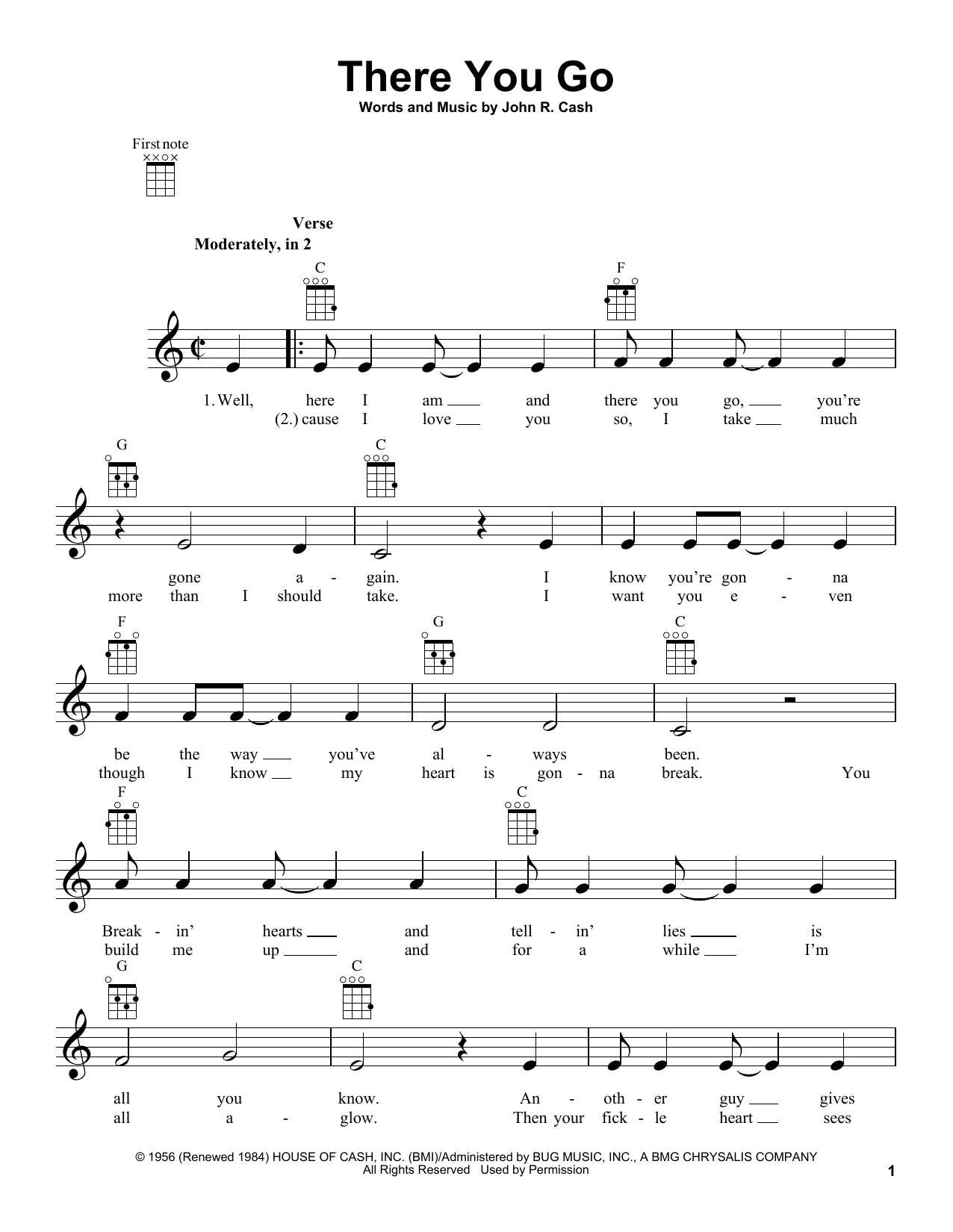 There You Go Sheet Music