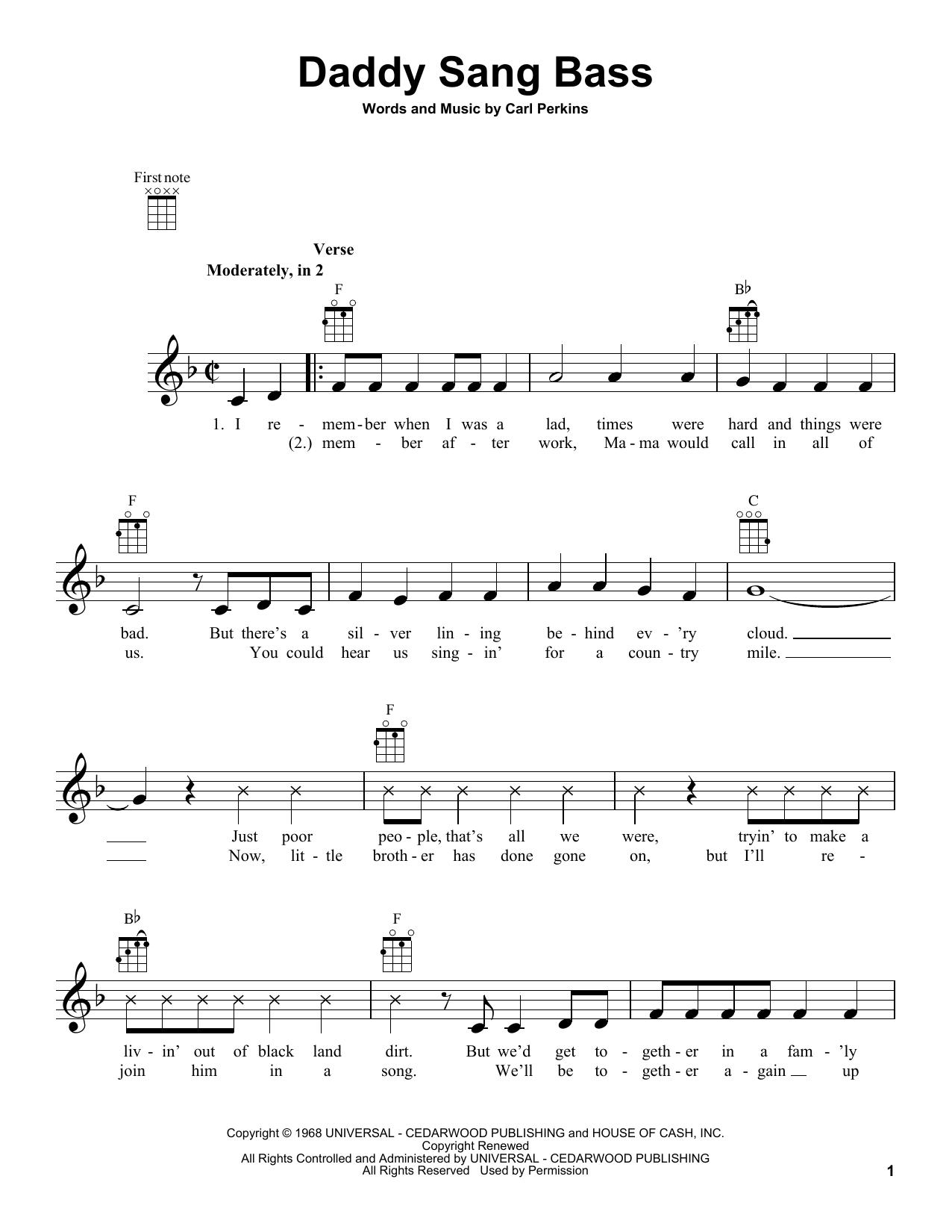 Daddy Sang Bass (Ukulele)