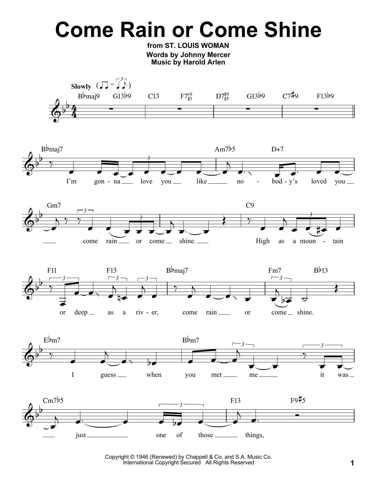 Come Rain Or Come Shine (Pro Vocal)