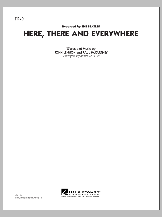 Here, There and Everywhere - Piano (Jazz Ensemble)