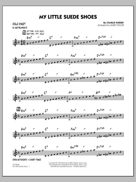 My Little Suede Shoes - Bb Solo Sheet (Jazz Ensemble)