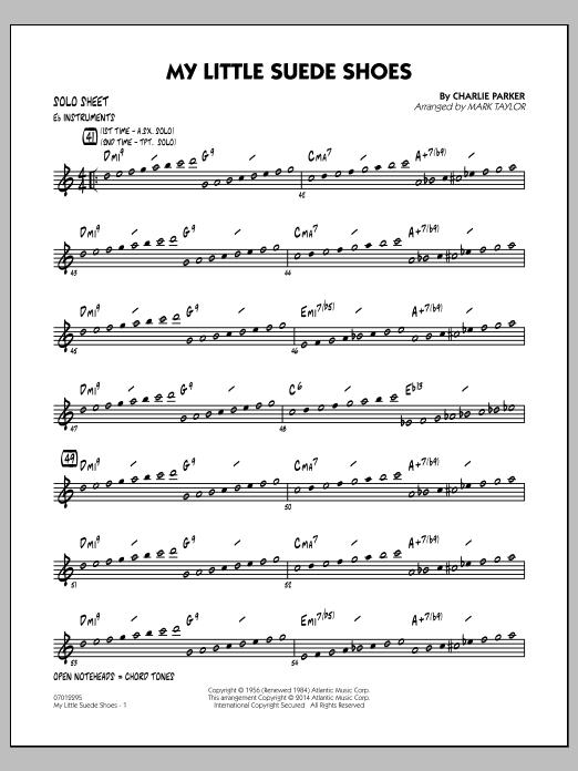 My Little Suede Shoes - Eb Solo Sheet (Jazz Ensemble)