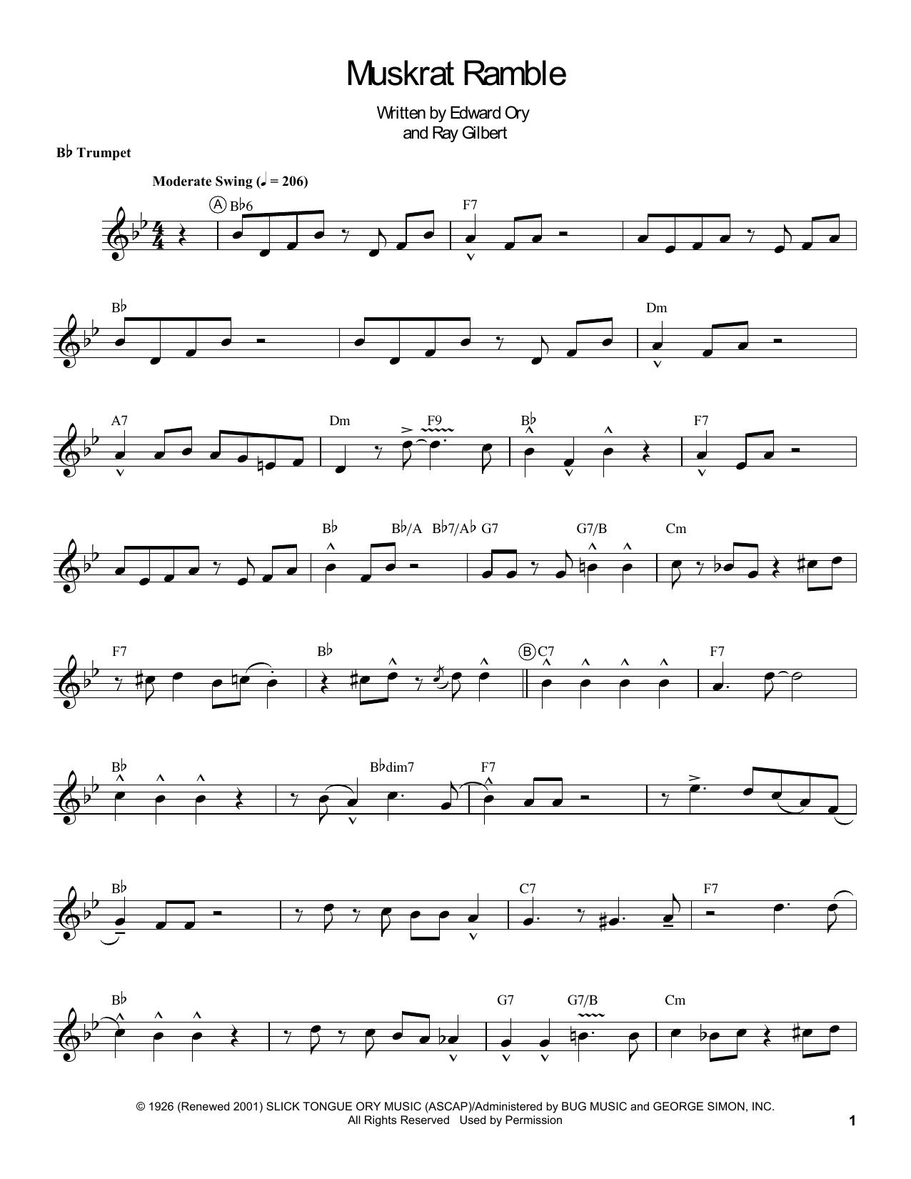 Muskrat Ramble Sheet Music