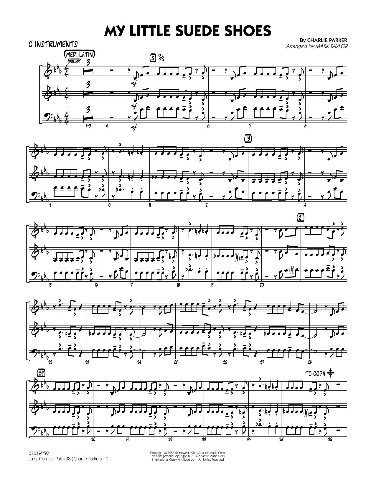 Jazz Combo Pak #38 (Charlie Parker) - C Instruments (Jazz Ensemble)