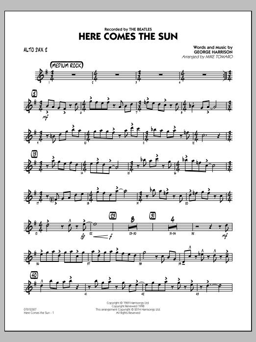 Here Comes the Sun - Alto Sax 2 (Jazz Ensemble)