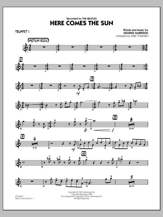 Here Comes the Sun - Trumpet 1 (Jazz Ensemble)