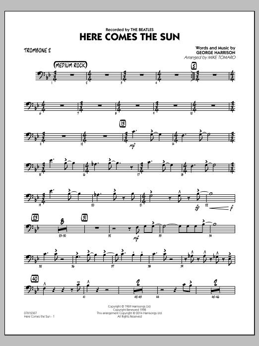 Here Comes the Sun - Trombone 2 (Jazz Ensemble)