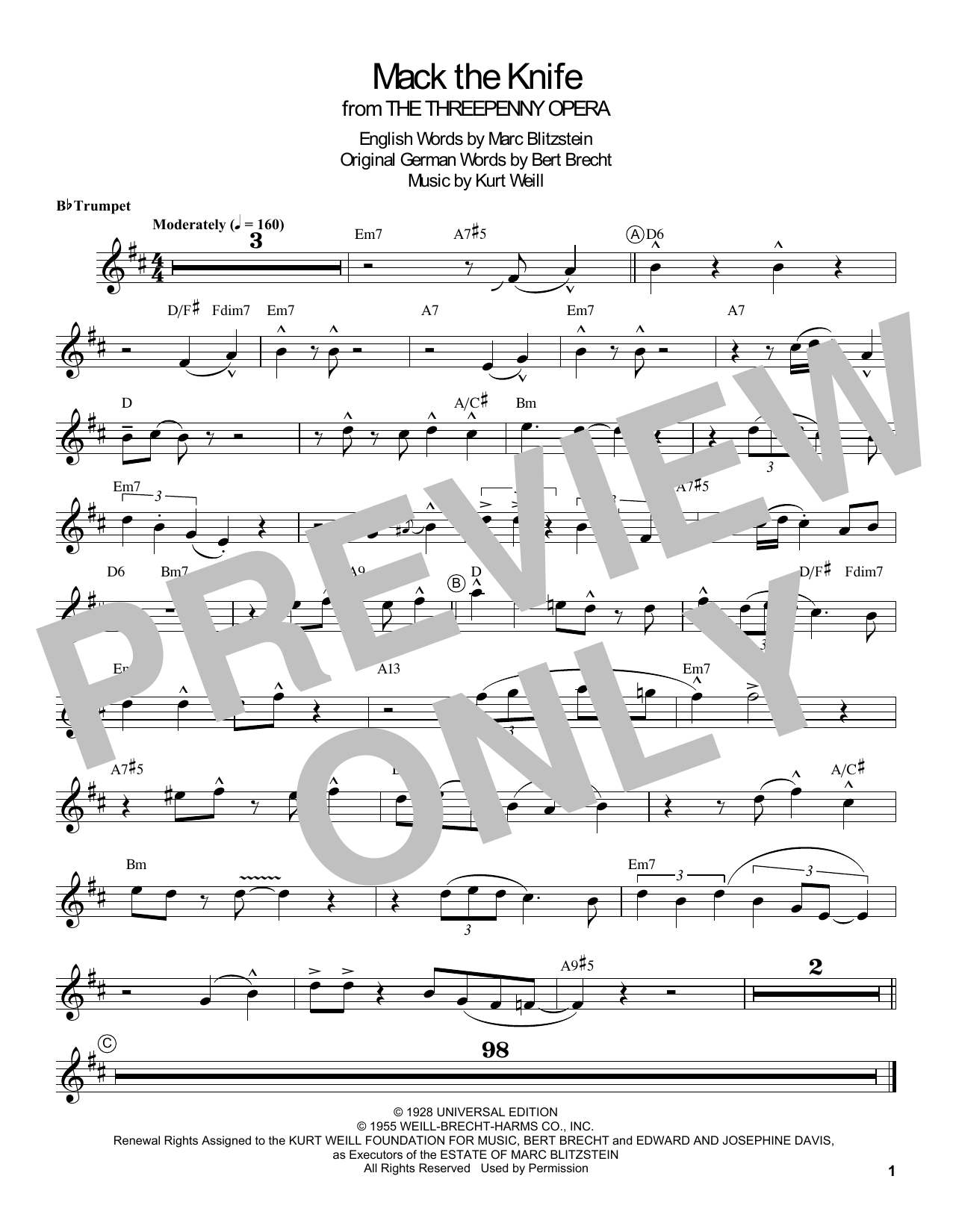 Mack The Knife (Trumpet Transcription)