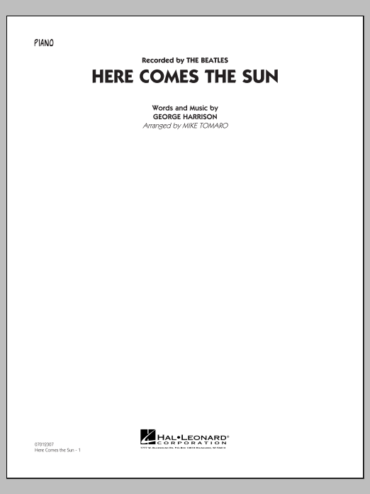 Here Comes the Sun - Piano (Jazz Ensemble)