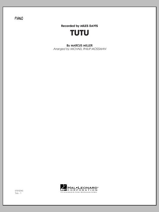 Tutu - Piano (Jazz Ensemble)