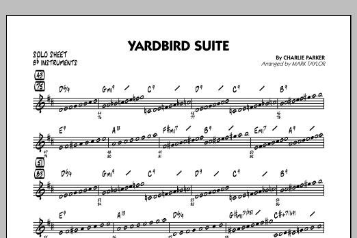 Yardbird Suite - Bb Solo Sheet (Jazz Ensemble)