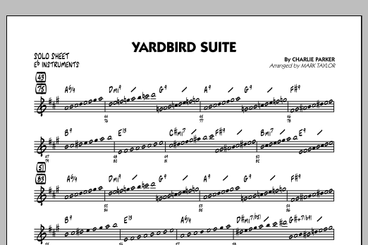 Yardbird Suite - Eb Solo Sheet (Jazz Ensemble)