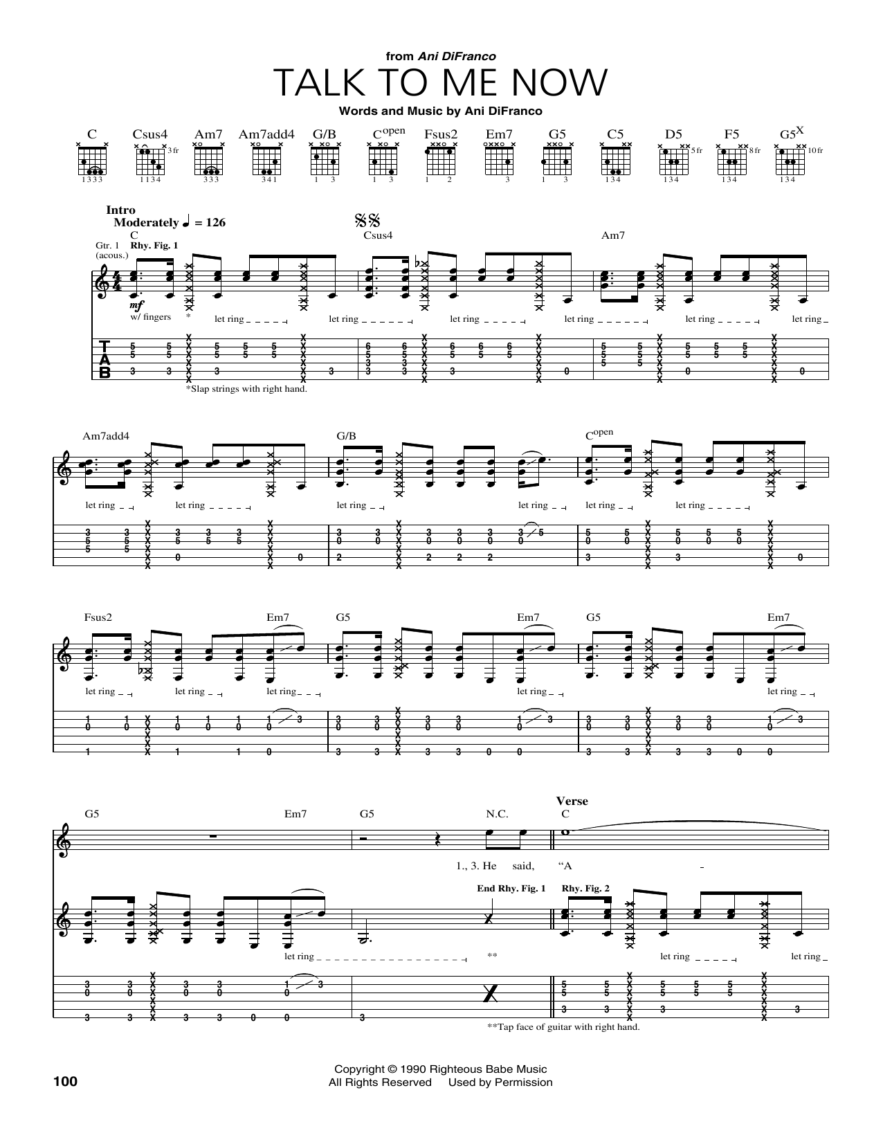 Talk To Me Now Sheet Music