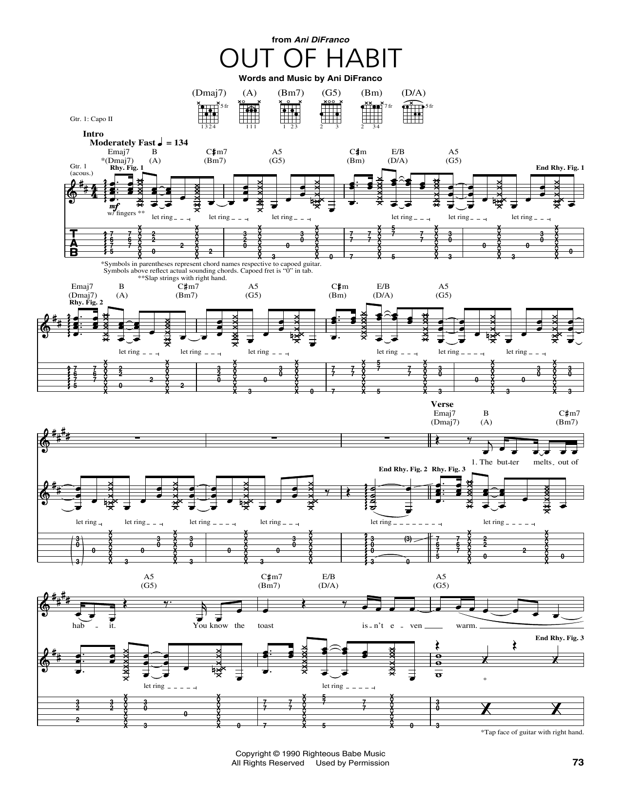 Out Of Habit Sheet Music