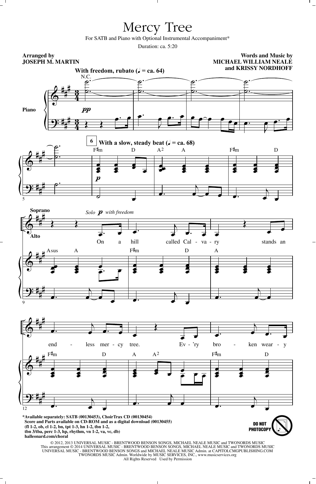Mercy Tree (SATB Choir)