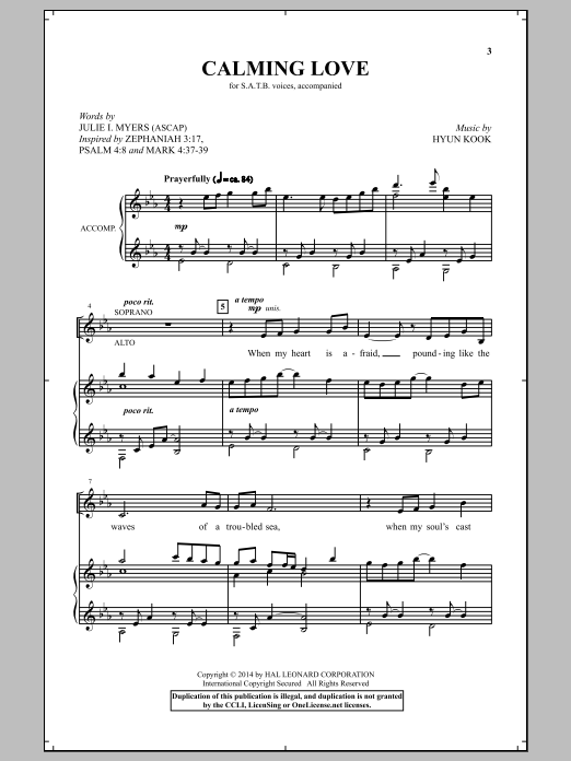 Calming Love Sheet Music
