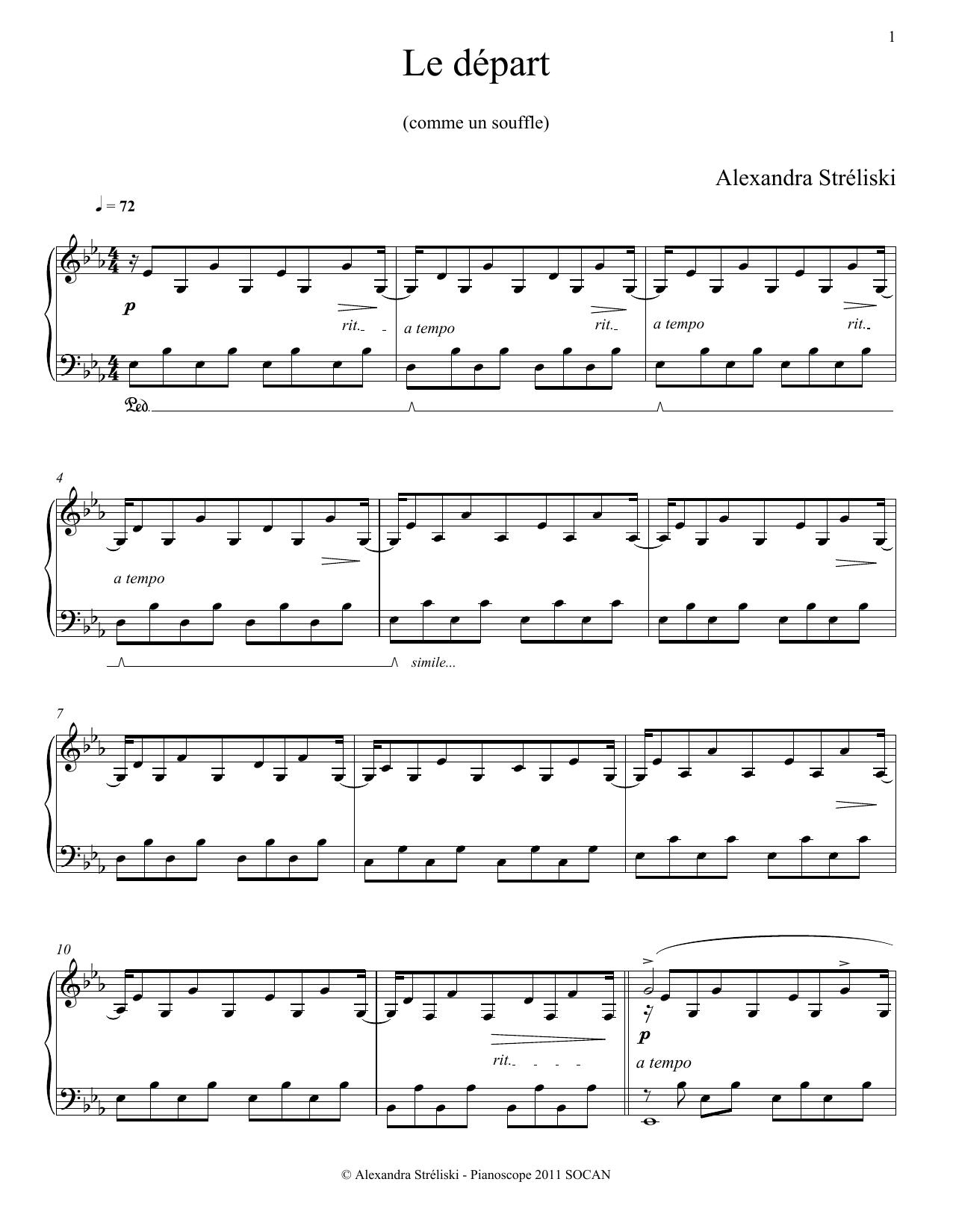 Le depart Sheet Music