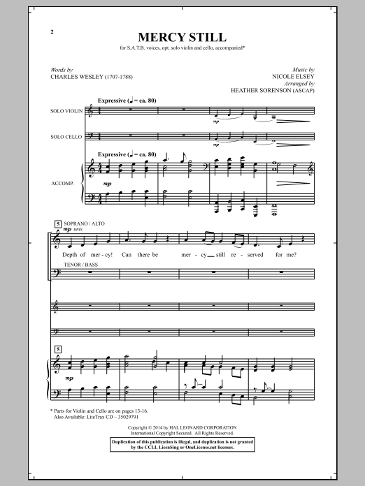 Mercy Still Sheet Music