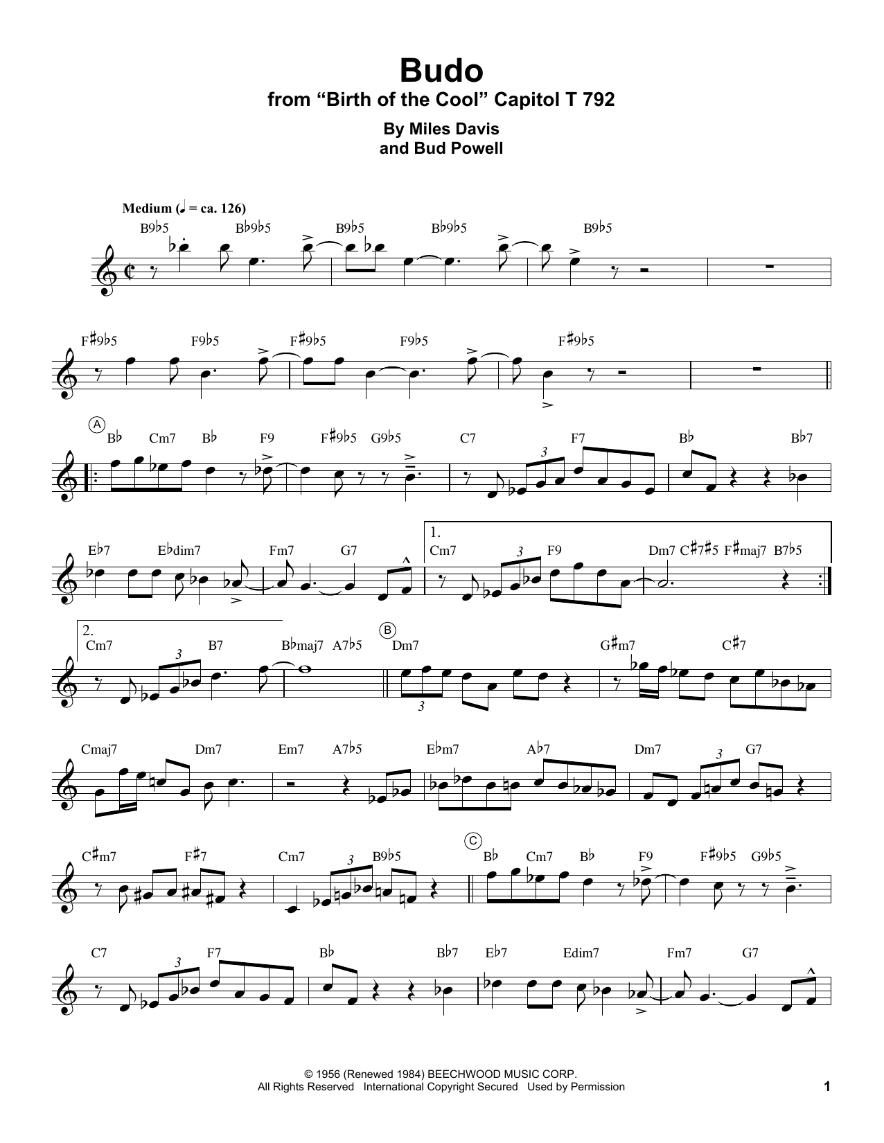 Budo Sheet Music