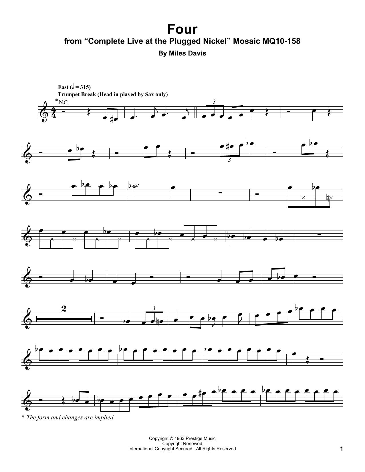 Four Sheet Music