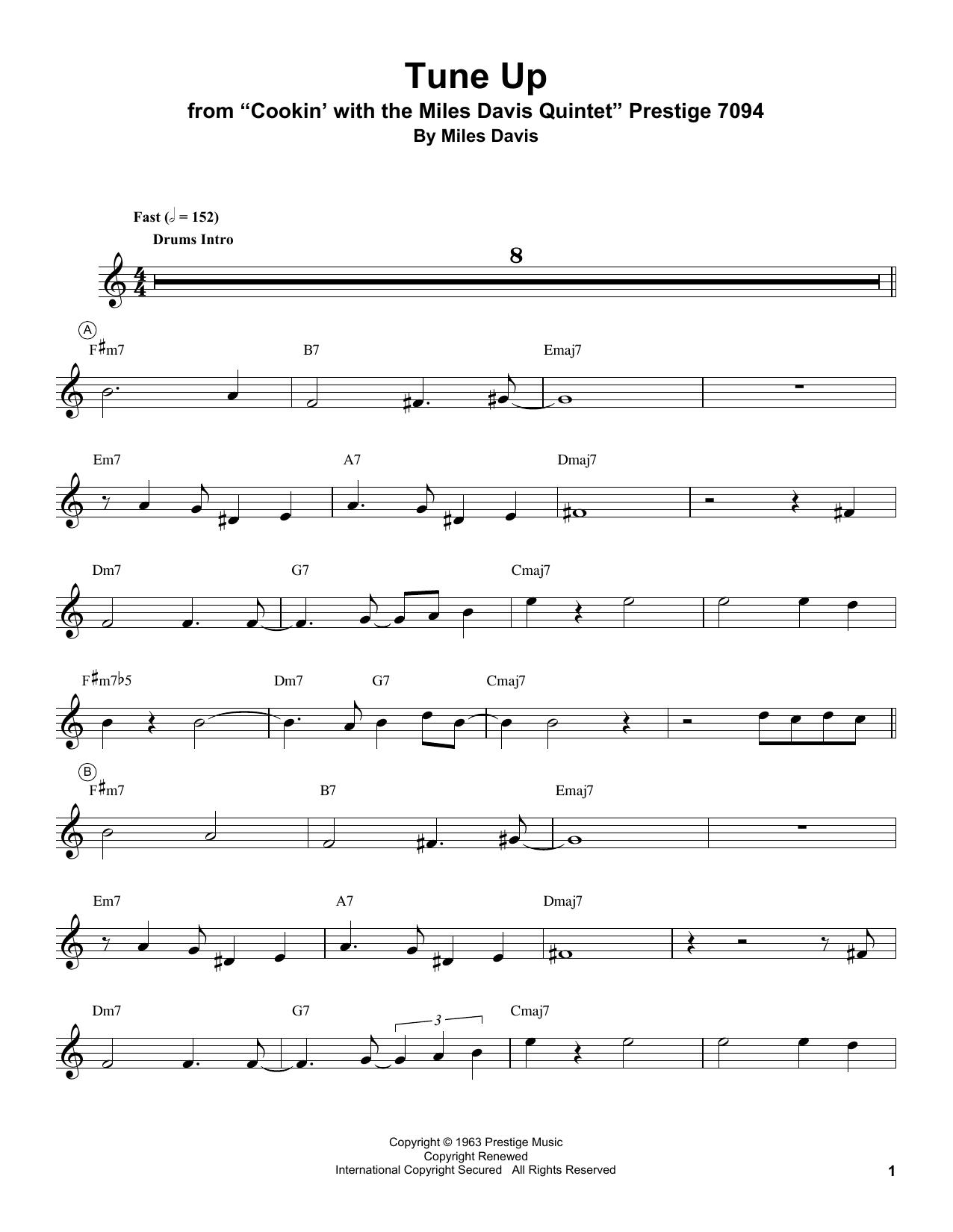 Tune Up Sheet Music