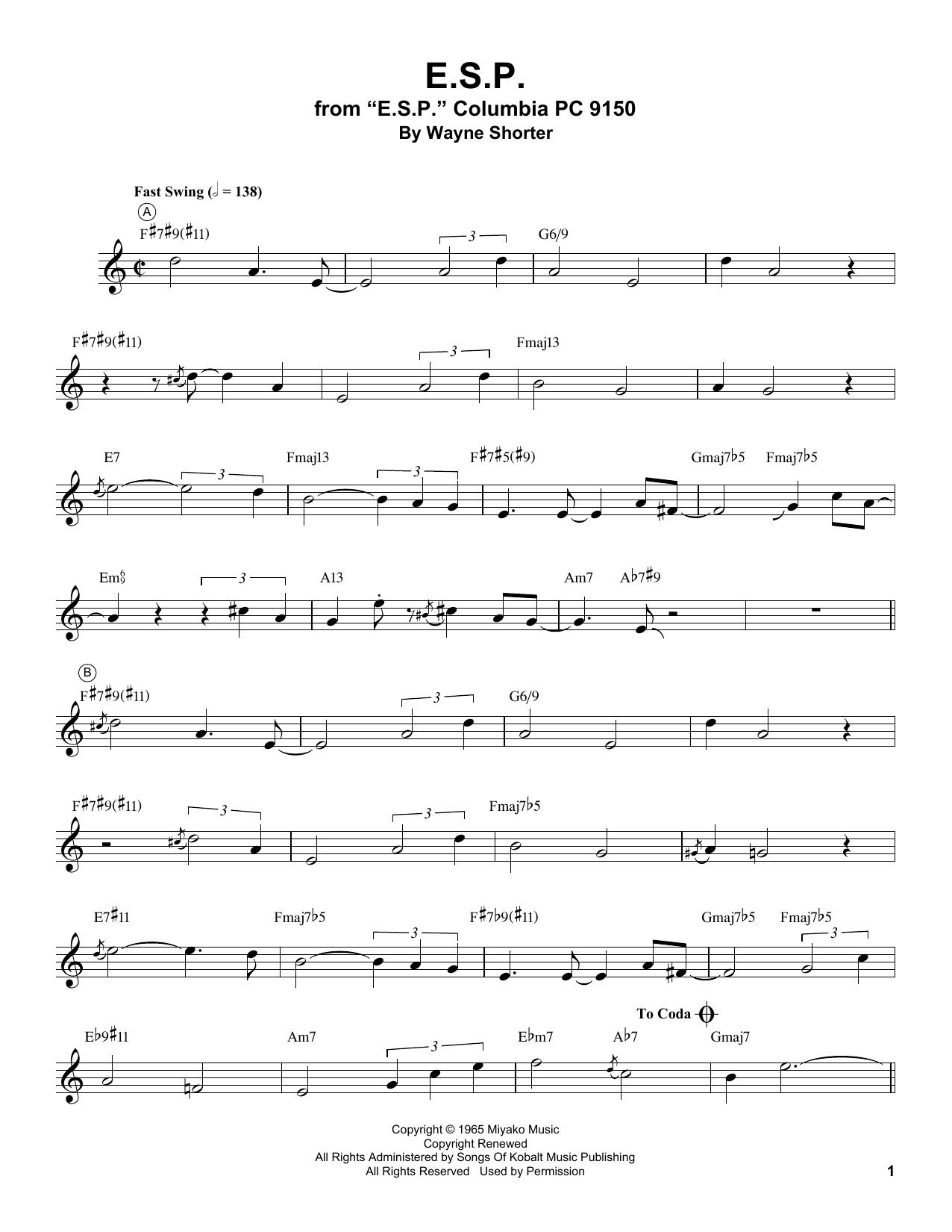 E.S.P. Sheet Music