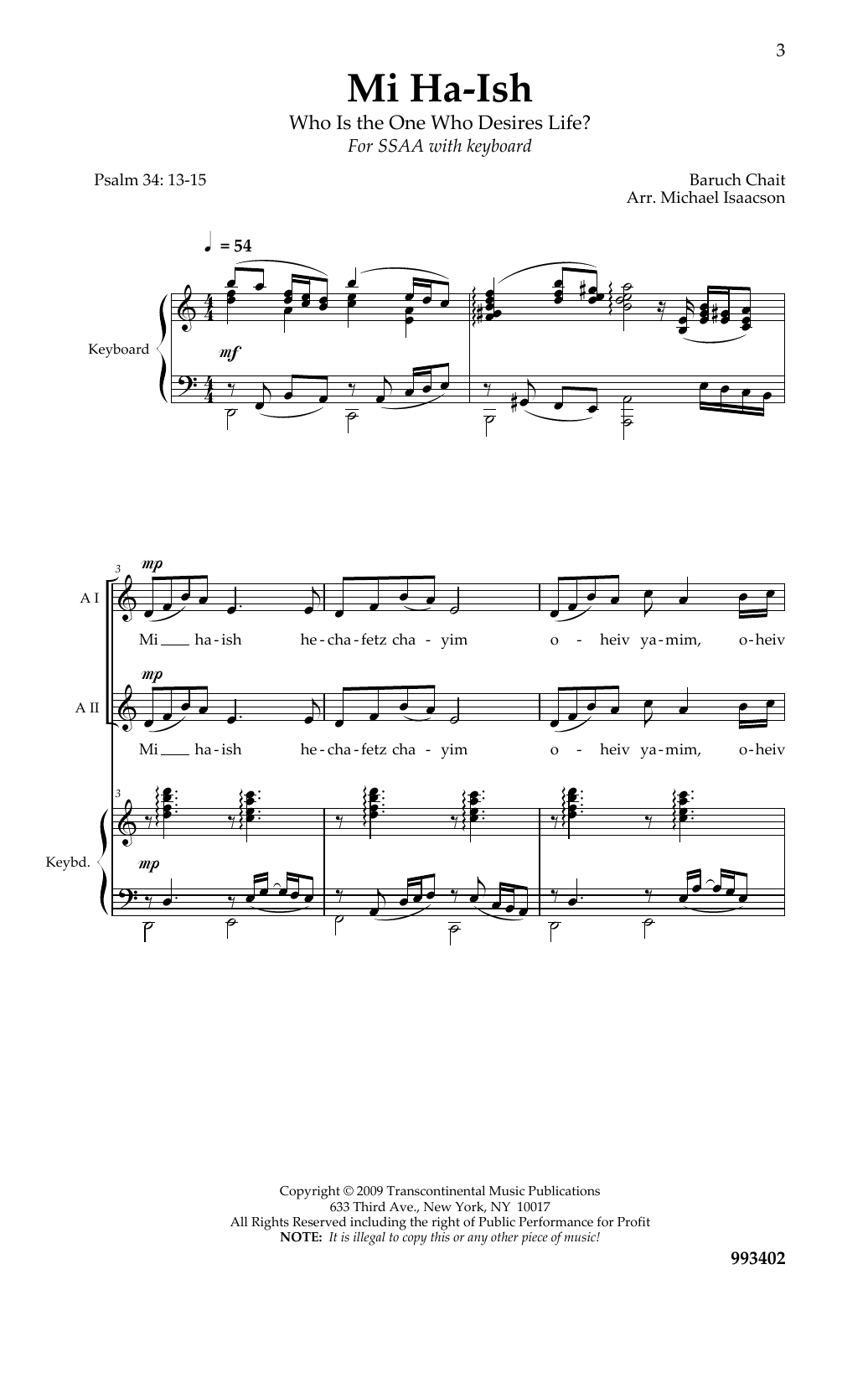 Mi Ha-Ish - Sheet Music to Download