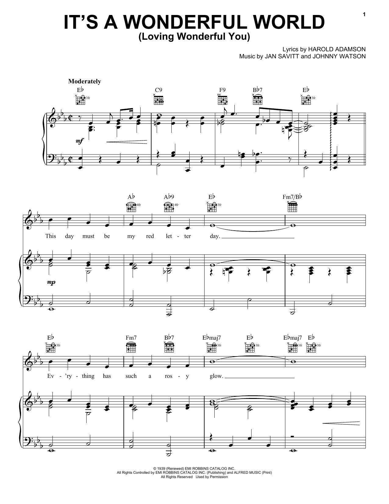 It's A Wonderful World (Loving Wonderful You) Sheet Music