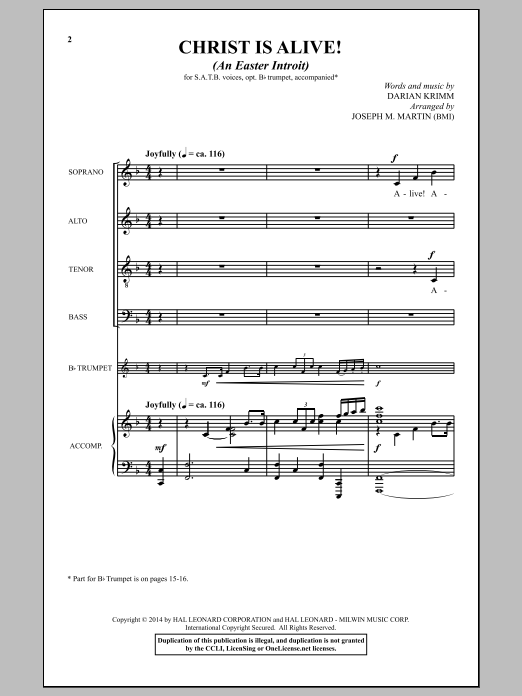 Christ Is Alive! (An Easter Introit) (SATB Choir)